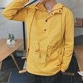 Сплошной Цвет Мужчины Женщины Куртка Новый Пуловер С Капюшоном Куртки Мужской Моды Случайные Ветровка Пальто Студенческие Пары Clothing
