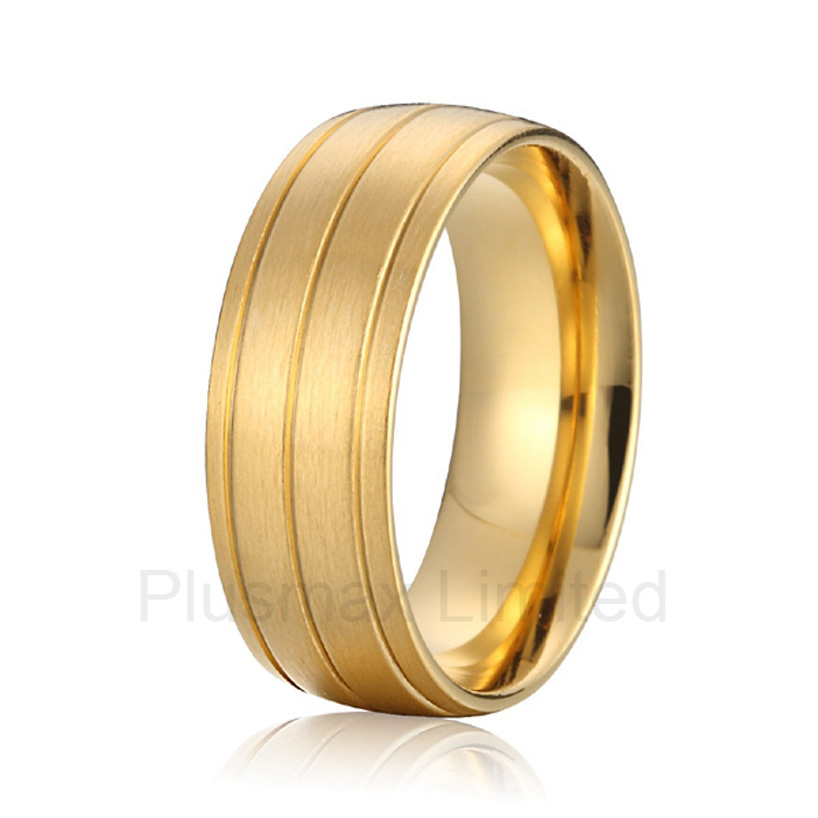 high quality anel feminino Eco-friendly health men titanium wedding band rings anel feminino cheap pure titanium jewelry wholesale a lot of new design cheap pure titanium wedding band rings