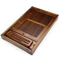 Chinese Kung Fu tea tray drawer style tea tray solid wood large small storage tea tray Coffee table decoration Free Shipping