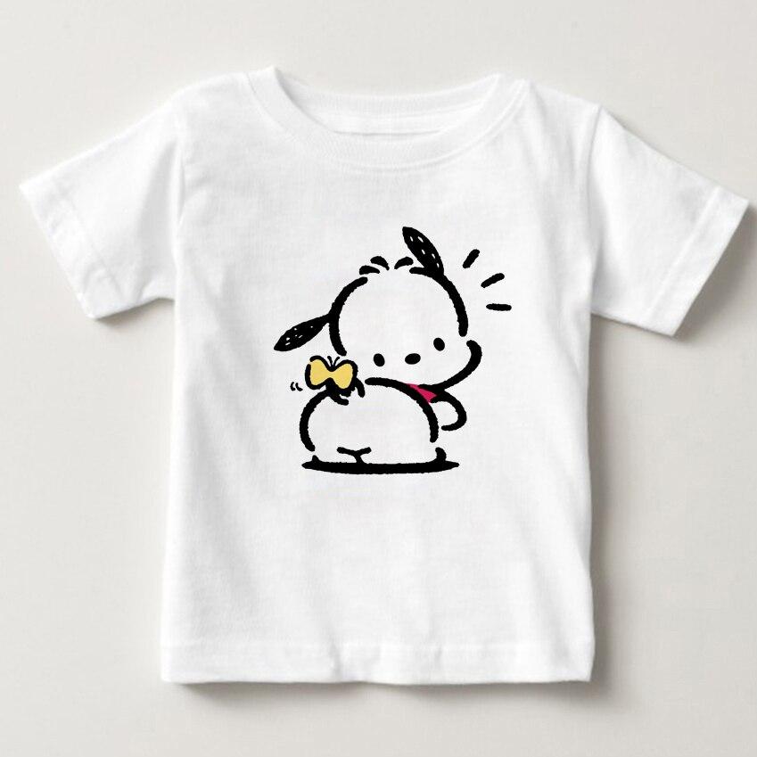 2019 Neueste Digitale Cartoon Druck Kinder T-shirt Pochacco 2-15 Jahre Alten Jungen Und Mädchen Sommer T-shirt Reine Baumwolle T-shirt