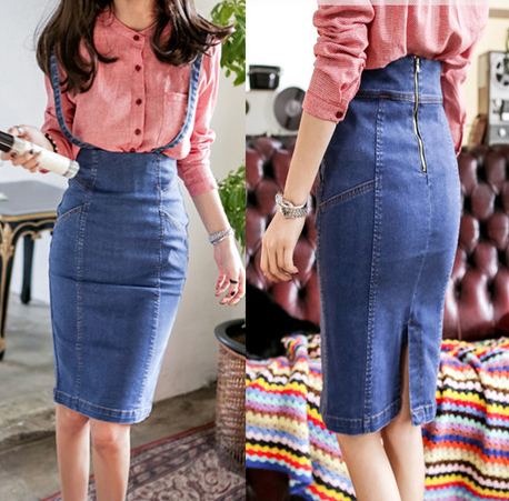 94e4661ba € 19.94 |S M L XL saias Jeans Denim Skirts Women Pencil Jeans Sexy Slim  Ladies Long Summer Skirt en Faldas de Ropa de mujer en AliExpress.com | ...