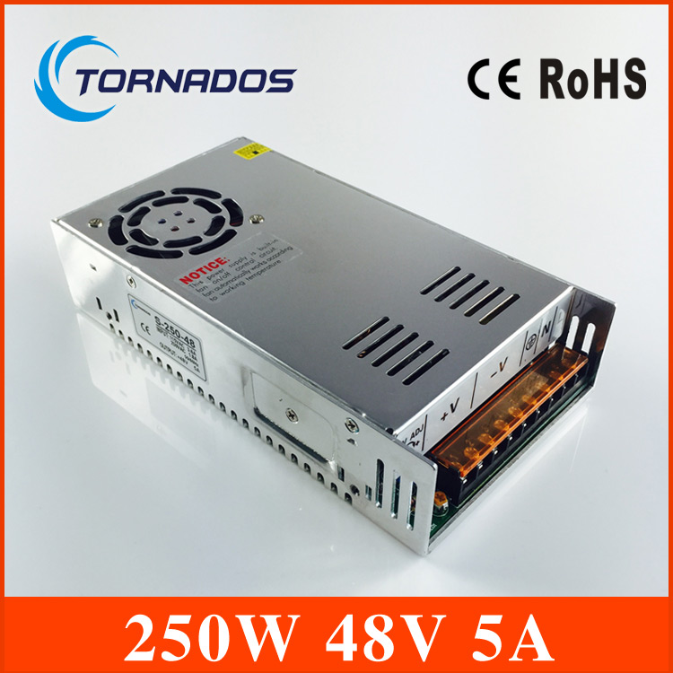 High quality 240w 48V 5A switching mode power supply CE RoHS approved S-250-48 single series led transformer купить