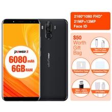"Ulefone Power 3 Gesicht ID 6,0 ""18:9 Display 6 GB RAM 6080 mAh Handy MTK6763 Octa-core 64 GB ROM Android8.1 OTG 21MP Smartphone"
