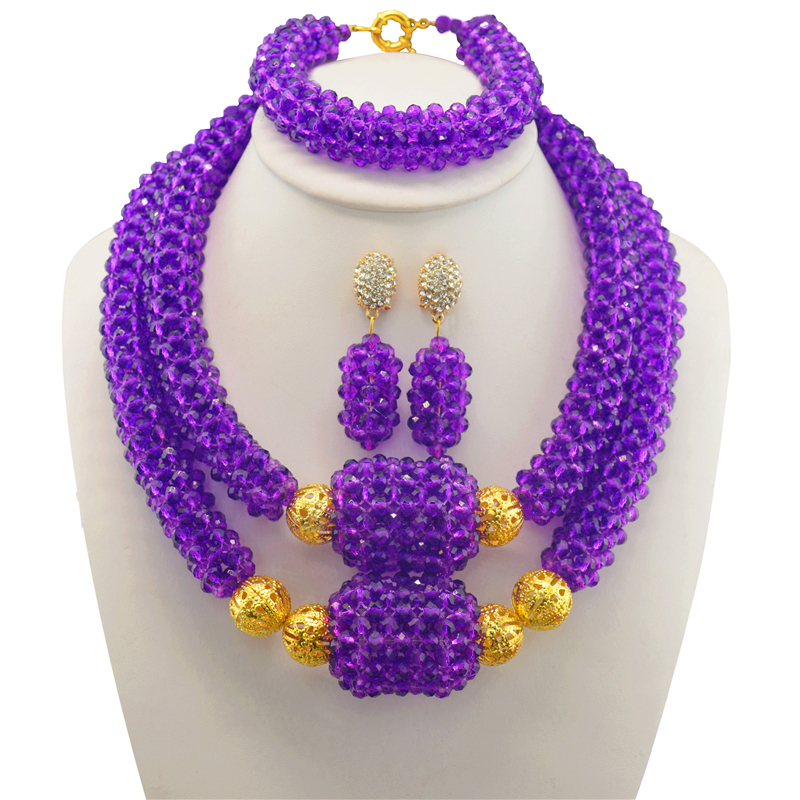 Dubai Bridesmaid Necklace Set 2017 Nigerian Wedding Costume Statement Jewelry Choker African Beads Jewelry Sets For WomenDubai Bridesmaid Necklace Set 2017 Nigerian Wedding Costume Statement Jewelry Choker African Beads Jewelry Sets For Women
