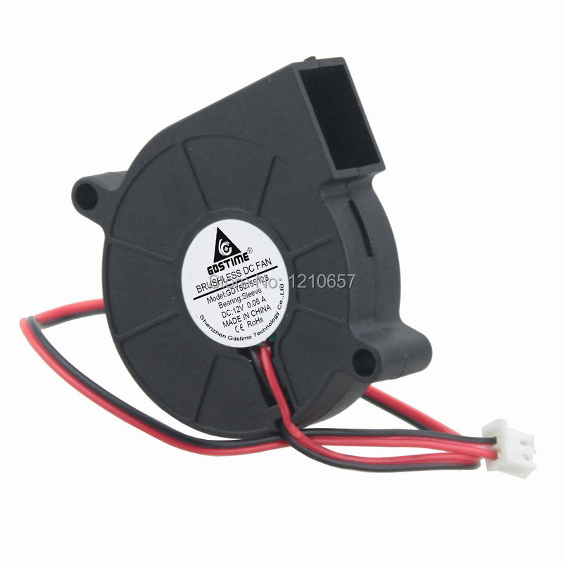 5pieces lot 12V 50mm 5015 50x50x15mm Cooling Blower Turbo Fan
