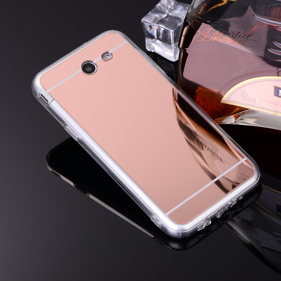 ultra slim silver rose gold soft tpu mirror case for samsung galaxy j720 j7 2017 j720 protective
