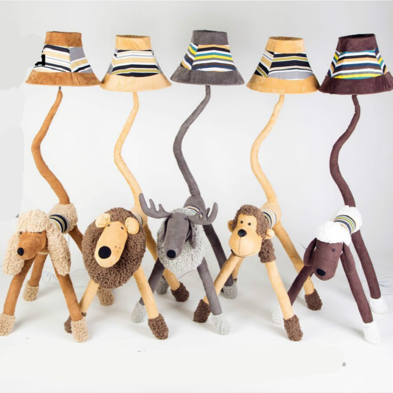 Floor Lamps For Kids Bedroom: Cottage Lovely Creative Cartoon Fabric Animal Led E27