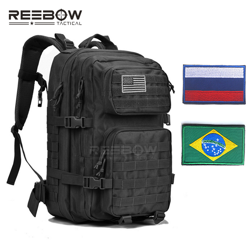 REEBOW TACTICAL Military Backpack Army 3 Day Assault Pack Waterproof Molle Bug Out Rucksacks Outdoor Hiking Camping Hunting 40l military tactical assault pack backpack molle waterproof bug out bag rucksack for outdoor hiking camping hunting x66