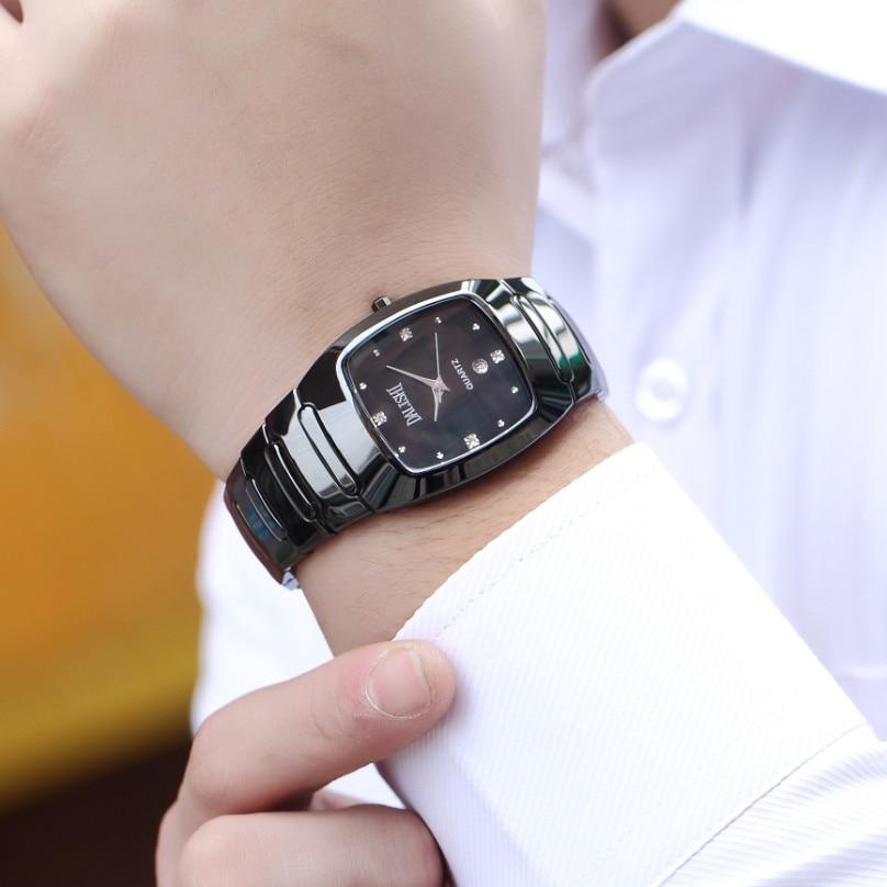 DALISHI Top Brand Male Quartz Watch Simple Rectangle Dial Men Business Wristwatch Fashion Casual 100% Ceramic Clock Montre Femme dalishi brand ceramic ladies charm watch fashion casual reloj mujer quartz watches fashion business male clock montre homme
