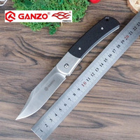 58 60HRC Ganzo G7471 440C G10 Or Wood Handle Folding Knife Survival Camping Tool Hunting Pocket