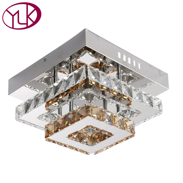 Deux Couches Cristal LED Plafonnier Couloir Luminaire D coration Lustre Cristal Plafond Lampe LED Couloir clairage.jpg 640x640 5 Superbe Plafonnier Couloir Led Kdj5