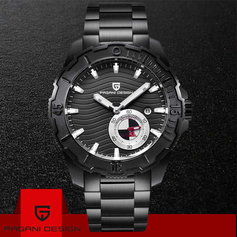 PAGANI DESIGN Luxury Business Watches Fashion Mechanical Automatic Watch Sports Steel Waterproof Mens Watches Relogio Masculino