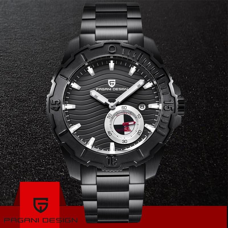 PAGANI DESIGN Luxury Business Watches Fashion Mechanical Automatic Watch Sports Steel Waterproof Mens Watches Relogio Masculino|Mechanical Watches| |  - title=