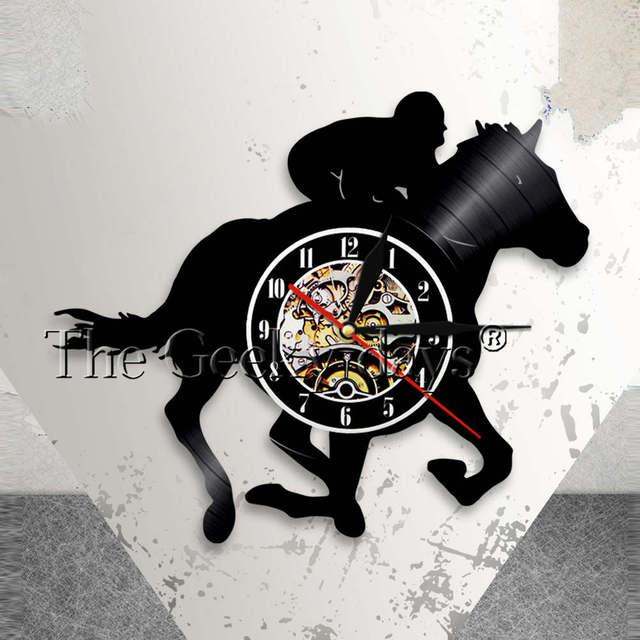Equestrian Wall Clock Modern Horse Riding Wall Art Decor Vintage ...
