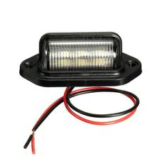 2Pcs Waterproof 6 LED 12/24V Car Truck Trailer License Plate Light Tail Lamp dust-proof