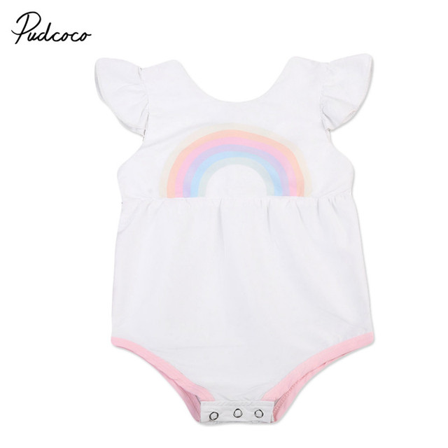 4f79fa3ef7d8 Newborn Baby Girls Infant Summer Clothes Romper Outfits Cotton ...