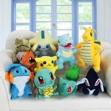 1Pcs Retail Substitute Jirachi Totodile Dragonite Charmander Pikachu Mudkip Squirtle Bulbasaur Lugia Plush Toys 13 23cm