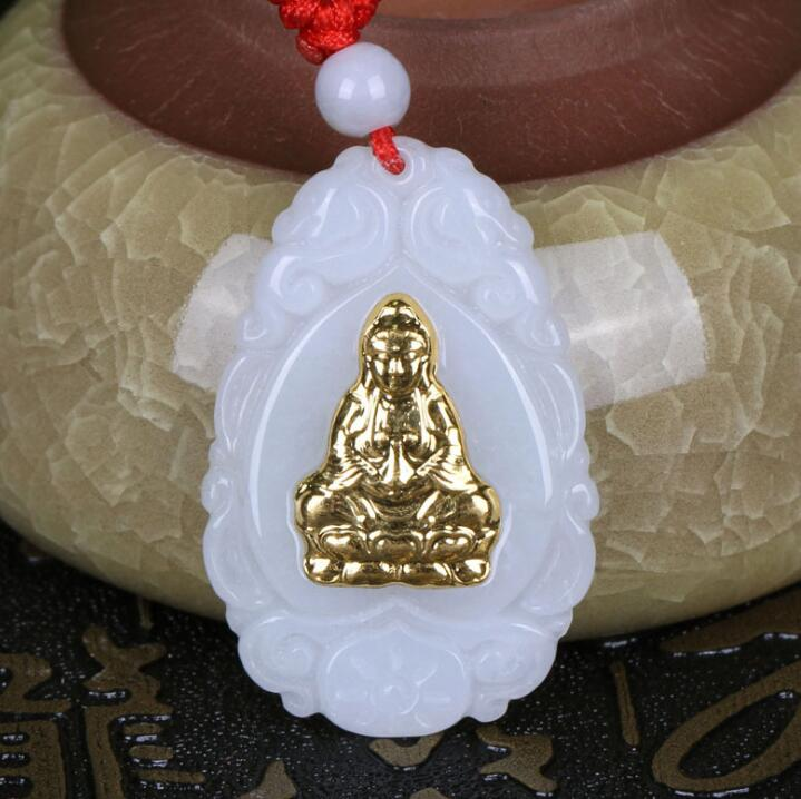 2018 New Arrival Guanyin Stylish Jade Pendant For Men Women Hot Sales Unisex Necklace Jewelry