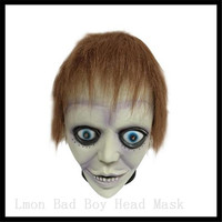 Frete grátis Partido Cosplay Máscara de Látex Assustador Bad Boy Lábio Roxo Adulto Partido Do Disfarce Máscaras De Látex De Borracha Para O Dia Das Bruxas