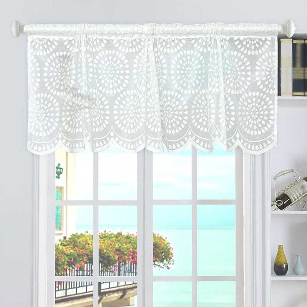 Kitchen Cabinets With Curtains Instead Of Doors: Aliexpress.com : Buy Home Short Roman Curtain Mesh White