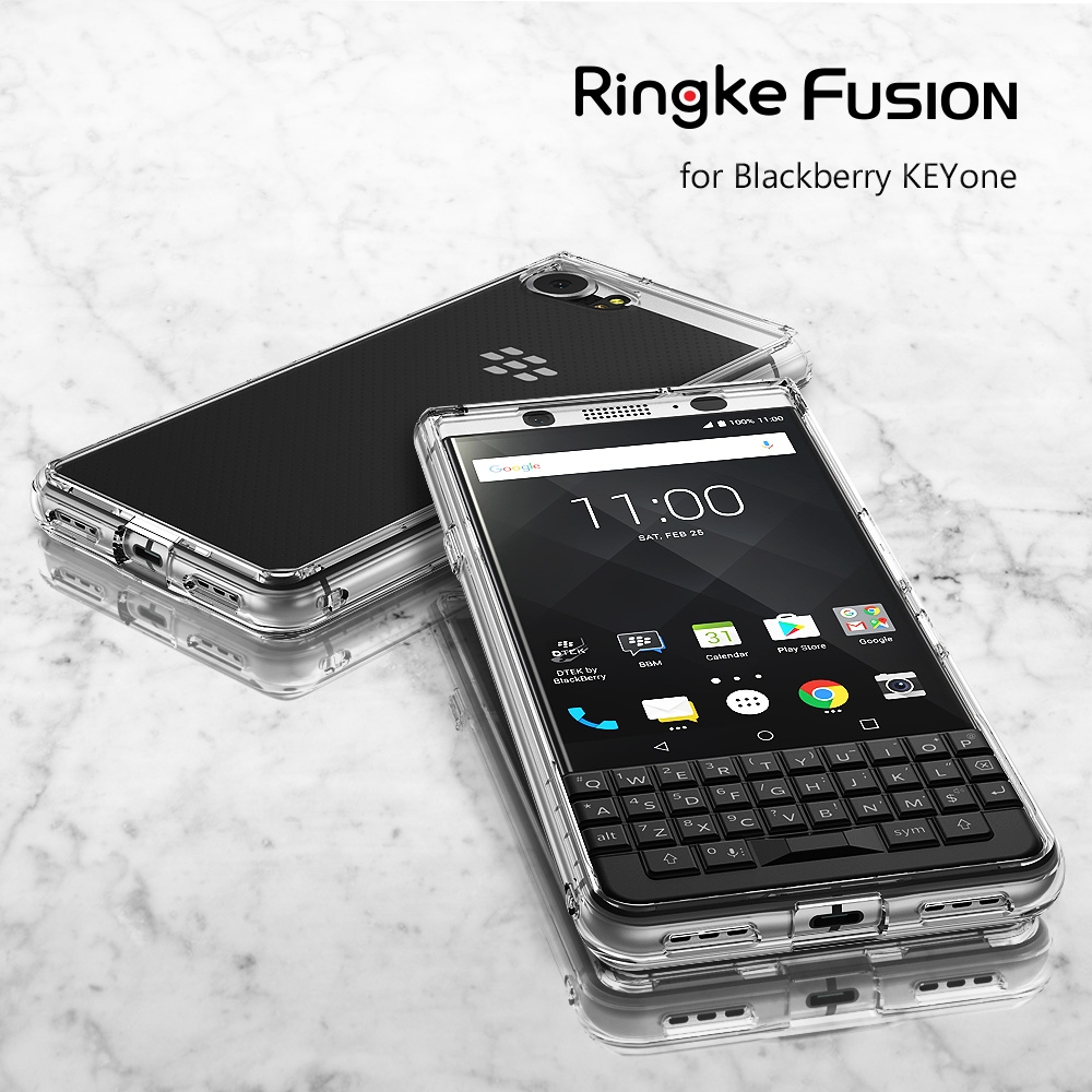 bilder für Ringke Fusion Fällen für Blackberry KEYone-Crystal Clear PC Zurück TPU Rahmen Military Grade Certified Drop Schutz Hybrid Fall
