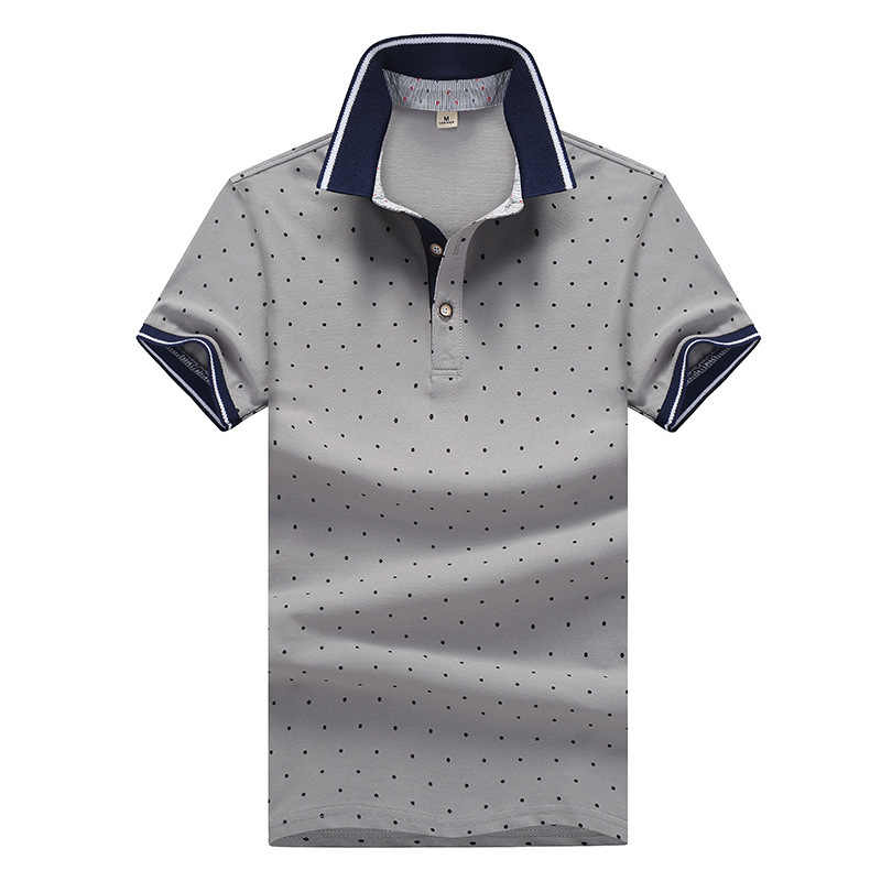 Camisa Polo Masculina Summer Casual Polos Men Dot Printed Casual Poloshirt Mens Short Sleeve Shirt 2019 Fashions Brand Clothing