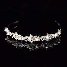 2017 New Arrival Elegant Rhinestones Freshwater Pearls Wedding Tiara Bridal Crown Hair Accessories