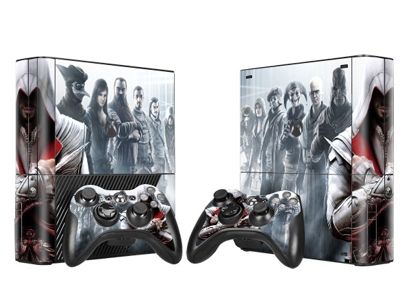Newest Assasinss Creed Vinyl Skin Sticker Protector for Microsoft Xbox 360 E and 2 Controller Skins Stickers For XBOX360 E