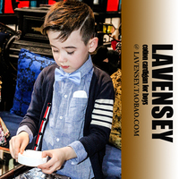 Lavensey Original Design Boys Sweaters European And Americans Style Cardigan Infantil Single Breasted Baby Cardigan Long
