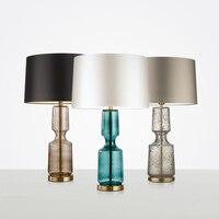 Современные светодио дный светодиодные стеклянные настольные лампы для спальни прикроватные настольные лампы для чтения сенсорная настол
