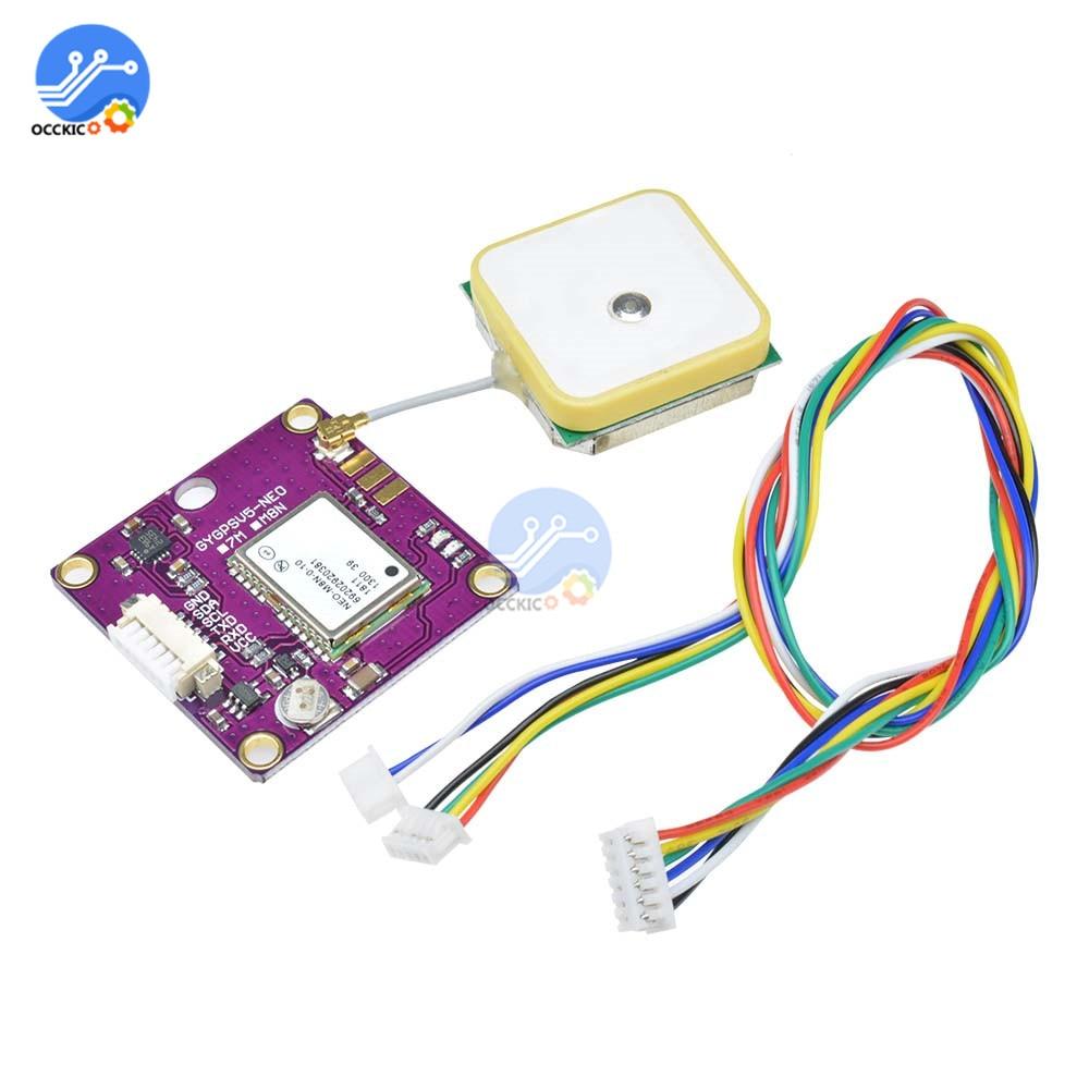Micro GPSV5 NEO-M8N GPS Module GNSS HMC5983 SAW LNA Triple Band Antenna ANT