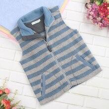 Children Boys Fashion Clothing Fleece Tops Kids Outerwear Jacket Vest Waistcoat in Spring Autumn Warm Soft