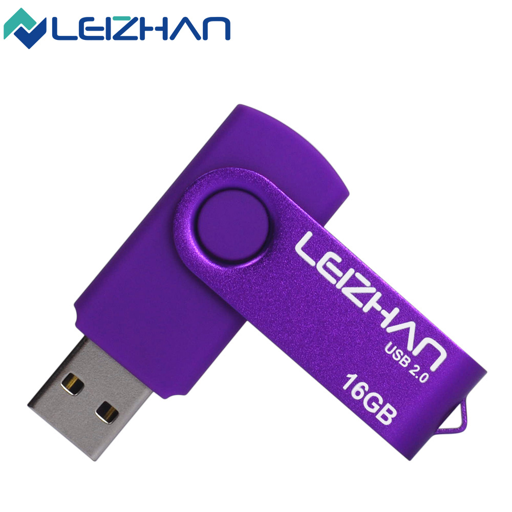 LEIZHAN Flash Drive Real Capacity 64GB 32GB 16GB 8GB 4GB Pen Drive Wholesales Computer U disk Pendrive Laptop Memory Stick