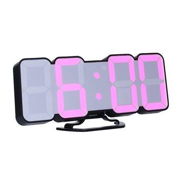 Upgrade 3D Remote Control Digital Wall Clock 115 Colors LED Table Clock Time Alarm Temperature Date Sound Control Night Light 9