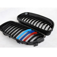 E90 LCI Glossy Black 3 Color ABS Auto Car Front Bumper Mesh Grill Grille For BMW