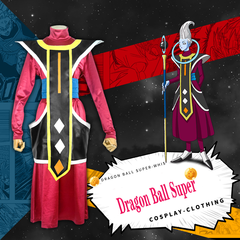 Anime Dragon Ball Super Cosplay Costumes Gods of Destruction Entourage Whis Cosplay Costume Halloween Party Dragon Ball Z Cos