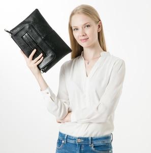Image 3 - ANAWISHARE torebki damskie skórzane torebki codzienne kopertówki czarne torebki Crossbody damskie koperty wieczorowe torebki na przyjęcie