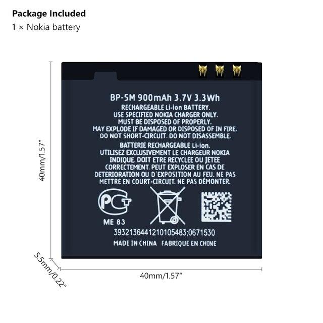 BP-5M BP5M BP 5M Phone Batteries For Nokia 5700 5610 5611 5710 5611XM 5700XM 5710XM 6110 6110N 6200C 6220C 6220 6500S 7379 7390