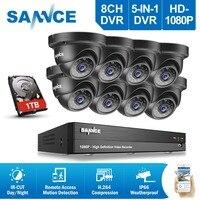 SANNCE 8CH HD 1080 P система видеонаблюдения 8 шт. 3000TVL 2.0MP IR Наружные камеры видеонаблюдения 1080 P комплект для видеонаблюдения DVR 1 ТБ HDD