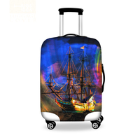 Designer Ship Printed Travel Luggage Protective Dust Cover Elastic Suitcase Covers For 18 30 Inch Suitcase