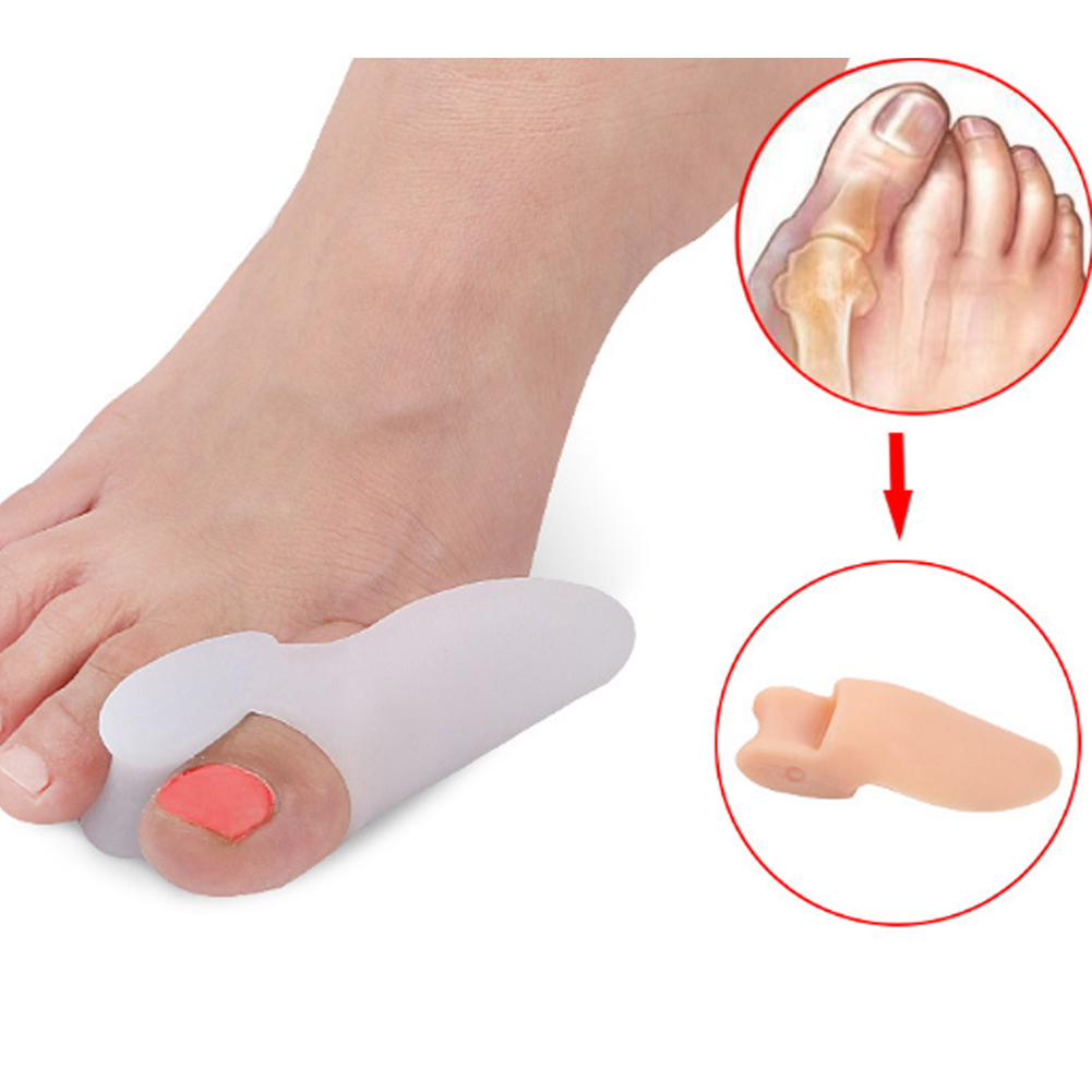 Toe Silicone Separator Correction Valgus Hallux Foot Bunion Thumb Care Pad PairToe Silicone Separator Correction Valgus Hallux Foot Bunion Thumb Care Pad Pair