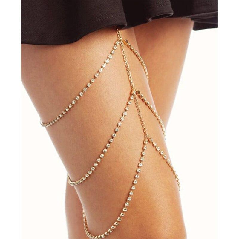 Trendy Claw Crystal leg Chain Body Jewelry Sexy Women Rhines