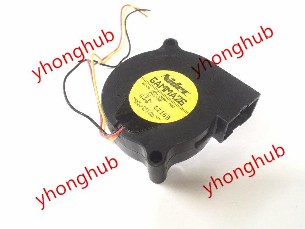 Nidec D05F-24PH 03B FH6-1488 DC 24V 0.11A 50x50x15mm Server Square fan 3-wire nidec ta350dc c35403 57 server square fan dc 24v 0 15a 92x92x25mm 3 wire