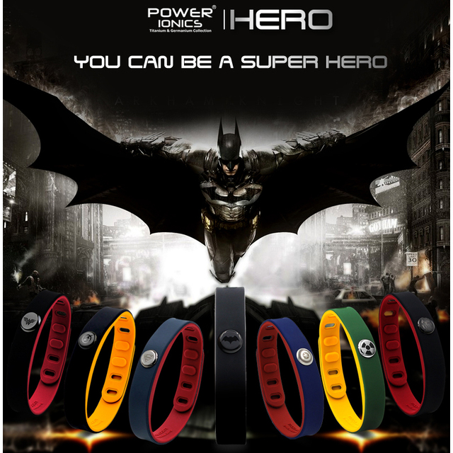 Hero Power Ionics 3000 ions IDEA BAND Sports Titanium Bracelet Wristband Balance