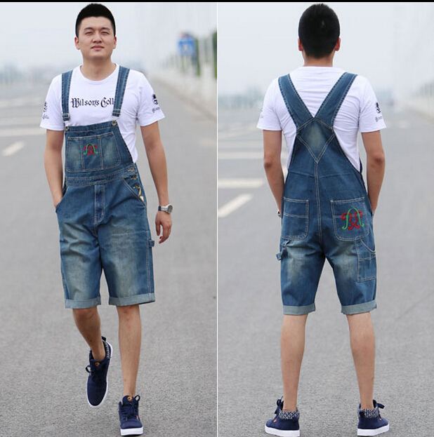 ФОТО New Arrival 2015 High Quality Men's Jeans Straps Denim Jumpsuit Mens Bib Overalls For Men Blue S M L XL XXL XXXL XXXXL