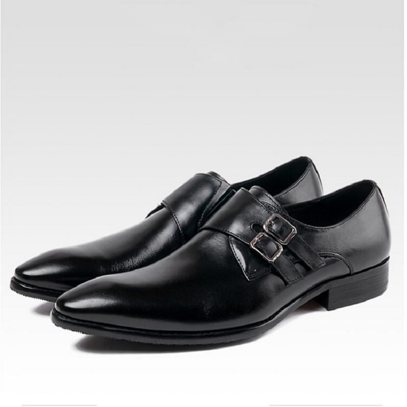 En Cuir Chaussures Northmarch Bureau Rétro Main Vintage Véritable De vin Robe Hommes Mariage Respirant Luxe Rouge Noir Plat Bout Pointu Conception qB11Itw