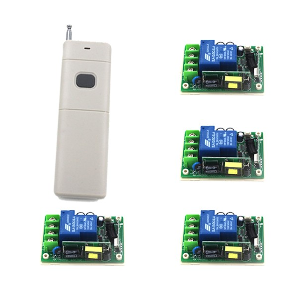 Portable 85V-250V Single 1 Channel 30A Wireless Relay Remote Control Switch Smart Remote Controls 1000M Wholesale SKU: 5289 ac220v 30a 1000m 1 channel wireless remote control switch 3000w high power relay 15 receiver for water pump sku 5512