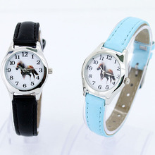 Leather Quartz Kids Animal Cartoon Wristwatch