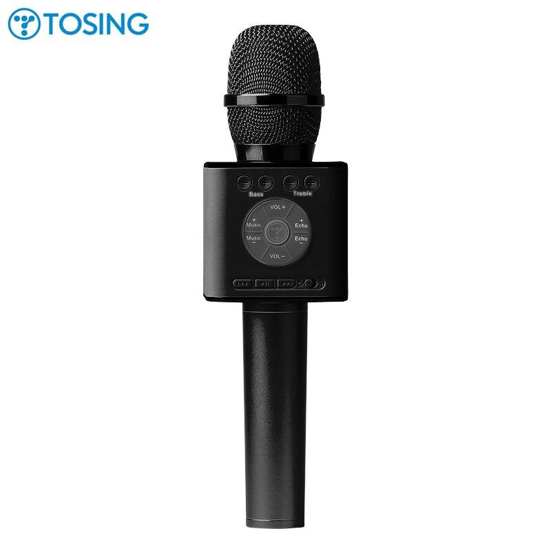 Mais recente Original Tosing 04 Microfone de Karaokê sem fio Bluetooth Speaker 2-em-1 Handheld KTV Cantar & Gravação Portátil jogador
