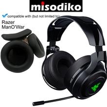 Misodiko Ersatz Ohr Pads Kissen und Stirnband für Razer ManOWar 7,1 Wireless/Wired Gaming Headset, Reparatur Ohrpolster
